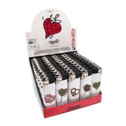 Zapalovač Prof Piezo Harmony Hearts Coloured-Plynový zapalovač. Zapalovač je plnitelný. Výška 8cm. Prodej pouze po celém balení (displej) 50 ks.