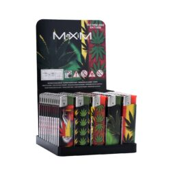Zapalovač Maxim Zen Leaves-Plynový zapalovač. Zapalovač je plnitelný. Prodej pouze po celém balení (displej) 50 ks.