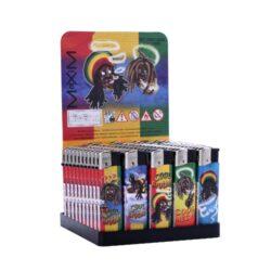 Zapalovač Maxim Zen Rasta-Plynový zapalovač. Zapalovač je plnitelný. Prodej pouze po celém balení (displej) 50 ks.
