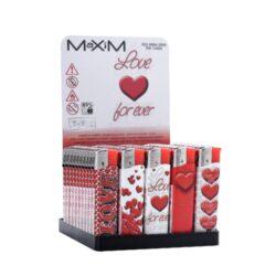 Zapalovač Maxim Zen Heart-Plynový zapalovač. Zapalovač je plnitelný. Prodej pouze po celém balení (displej) 50 ks.
