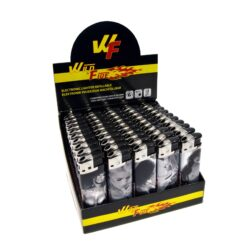 Zapalovač Wildfire Piezo Girls-Plynový zapalovač. Zapalovač je plnitelný. Prodej pouze po celém balení (displej) 50 ks.
