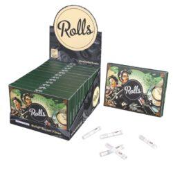 Cigaretové filtry Rolls VIP XL, 6mm-Cigaretové filtry Rolls - chytré filtry pro balení cigaret. Filtry snižují množství přijímaného dehtu, zabraňují škrábání v krku, neovlivňují chuť a dopřejí vám chladné kouření. Průměr filtru je 6mm, délka 34mm. Balení obsahuje 80 ks filtrů.