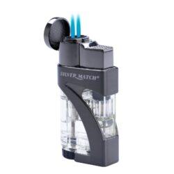 Doutníkový zapalovač Silver Match Fairlop-Tryskový doutníkový zapalovač. Zapalovač na doutníky je plnitelný. Tryskový zapalovač je dodáván v dárkové krabičce. Výška zapalovače 7cm.
