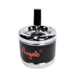 Cigaretový popelník otočný Angelo, kovový-Cigaretový popelník otočný. Samozhášecí popelník na cigarety je kovový, průměr 7,5cm.