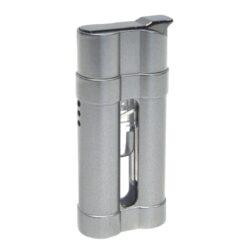 Zapalovač Eurojet Luciano, stříbrný-Tryskový zapalovač. Kovový zapalovač je plnitelný. Výška zapalovače je 6,5cm.