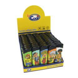 Zapalovač Cool Piezo Rasta-Plynový zapalovač. Zapalovač je plnitelný. Prodej pouze po celém balení (displej) 50 ks.