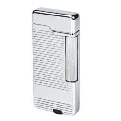 Zapalovač Hadson Sober, chromový-Stylový zapalovač Hadson. Kovový zapalovač s kamínkovým zapalováním má povrch v lesklém chromovém provedení. Ve spodní části je umístěn plynový plnící ventil a regulace intenzity plamene. Zapalovač je dodávaný v dárkové krabičce. Výška zapalovače 6,5cm.
