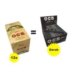 Cigaretové filtry OCB BIO + OCB Slim Premium ZDARMA-Cigaretové filtry OCB BIO + dárek. Při nákupu 12 ks krabic po deseti sáčkách filtrů (sáček 120 ks) - celkem 14400 ks filtrů OCB Slim Bio, získáte zdarma jedno balení OCB Slim Premium (50 ks knížeček).
