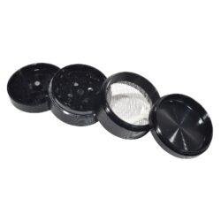 Drtič tabáku Grooves černý, kovový(660406)