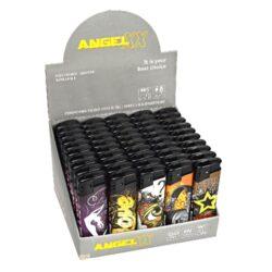 Zapalovač Angel Piezo Graffiti-Plynový zapalovač. Zapalovač je plnitelný. Prodej pouze po celém balení (displej) 50 ks.