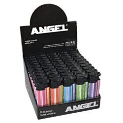 Zapalovač Angel Turbo Stripes colored-Žhavící zapalovač. Zapalovač je plnitelný. Prodej pouze po celém balení (displej) 50 ks.