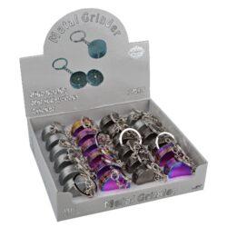 Drtič tabáku kovový mini 24mix, klíčenka(340153)