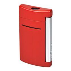 Zapalovač S.T. DuPont Minijet, červený-Luxusní tryskový zapalovač S.T. DuPont Minijet známé francouzské značky. Zapalovač je plnitelný. Výška zapalovače 5,4cm.