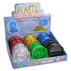 Drtič tabáku plastový, 12mix-Plastový drtič tabáku. Dvoudílný drtič bez sítka a zásobníku. Rozměry drtiče tabáku: průměr 53mm, výška 22mm. Před odesláním objednávky uveďte číslo barevného provedení do poznámky.  Cena je uvedena za 1 ks.  Balení - 12 ks