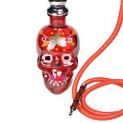 Vodní dýmka Skull 45cm červená(30473)