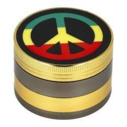 Drtič tabáku kovový Rasta, 50mm-Kovový drtič tabáku. Čtyřdílný drtič se závitem, sítkem a zásobníkem. Rozměry drtiče tabáku: průměr 50mm, výška 33mm. Cena je uvedena za 1 ks.