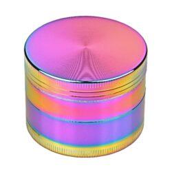 Drtič tabáku kovový Rainbow, 50mm, 12set-Kovový drtič tabáku. Čtyřdílný drtič se závitem, sítkem a zásobníkem. Rozměry drtiče tabáku: průměr 50mm, výška 37mm. Cena je uvedena za 1 ks.