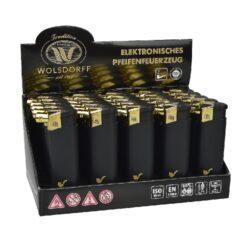 Dýmkový zapalovač Wolsdorff-Dýmkový zapalovač. Zapalovač je plnitelný. Prodej pouze po celém balení (displej) 25 ks. Výška zapalovače 8cm.