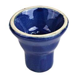 Náhradní korunka pro vodní dýmku, 20mm, modrá-Keramická náhradní korunka na vodní dýmky. Výška 5,7 cm. Průměr otvoru pro nasazení 2 cm.