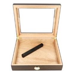 Humidor na doutníky Ořech prosklený 20D, stolní(561077)
