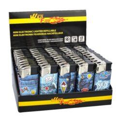 Zapalovač Wildfire Piezo Mini Jeans-Plynový zapalovač. Zapalovač je plnitelný. Výška 5,5cm. Prodej pouze po celém balení (displej) 50 ks.