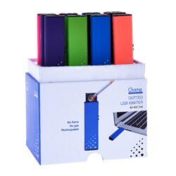 USB zapalovač Champ Dots, 12mix-Žhavící USB zapalovač s elektrickým zapalováním - žhavící spirála a USB dobíjením. Zapálení USB zapalovače se aktivuje vysunutím bočního tlačítka. Spirála začne žhavit a zapálí cigaretu. V USB zapalovači je integrovaný vysunovací MicroUSB port, kterým se zapalovač dobíjí. Doba nabíjení zapalovače 1-2,5 hodiny.Výška USB zapalovače 7,8cm. Před odesláním objednávky uveďte číslo barevného provedení do poznámky.   Cena je uvedena za 1 ks.  Balení - 12 ks.
