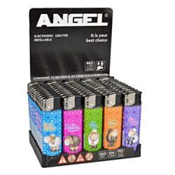 Zapalovače Angel Piezo Sheep-Plynový zapalovač. Zapalovač je plnitelný. Výška zapalovače 8cm. Prodej pouze po celém balení (displej) 50 ks.
