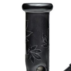 Skleněný bong Černý Ice matný 19cm(31530)
