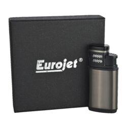 Doutníkový zapalovač Eurojet Amigo 2-Jet, šedý(250018)