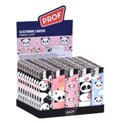 Zapalovač Prof Piezo Cute Panda-Plynový zapalovač. Zapalovač je plnitelný. Prodej pouze po celém balení (displej) 50 ks. Výška zapalovače 8cm.
