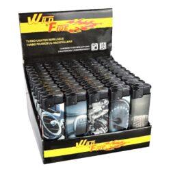 Zapalovač Wildfire Turbo Cars-Žhavící zapalovač. Zapalovač je plnitelný. Prodej pouze po celém balení (displej) 50 ks. Výška zapalovače 8cm.
