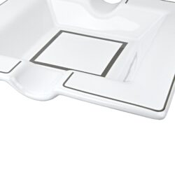Doutníkový popelník keramický bílý, 2D(09584)