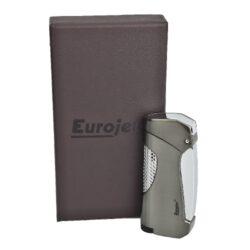 Tryskový zapalovač Eurojet Snap, šedý(251200)