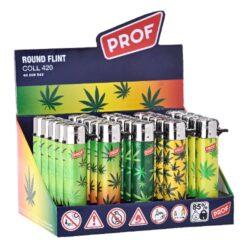 Zapalovač Prof Flint Round Leaves-Plynový kamínkový zapalovač. Zapalovač není plnitelný. Prodej pouze po celém balení (displej) 25 ks. Výška zapalovače 7cm.