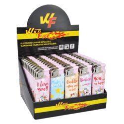 Zapalovač Wildfire Piezo Unicorn-Plynový zapalovač. Zapalovač je plnitelný. Prodej pouze po celém balení (displej) 50 ks. Výška 8cm.