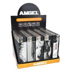 Zapalovač Angel Piezo Nude-Plynový zapalovač. Zapalovač je plnitelný. Prodej pouze po celém balení (displej) 50 ks. Výška zapalovače 8cm.