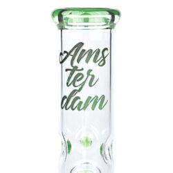 Bong skleněný s perkolací Amsterdam Ice zelený 19cm(02930MIXG)