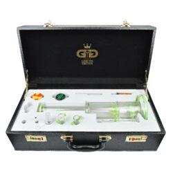 Skleněný bong s perkolací Grace Glass LE Set zelený 38cm(G642G)