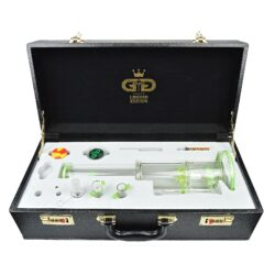 Bong skleněný s perkolací Grace Glass LE Set zelený 38cm(G642G)