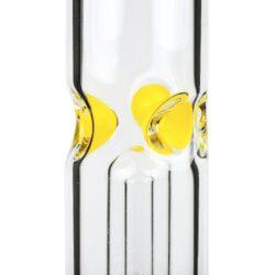 Skleněný bong s perkolací Grace Glass Big Baked Beaker Ice žlutý 56cm(G1534Y)