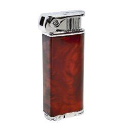 Dýmkový zapalovač Eurojet Smart, hnědý-Dýmkový zapalovač s bočním plamenem. Kovový zapalovač obsahuje ve spodní části integrované dusátko a nastavení intenzity plamene spolu s plnicím ventilem. Dýmkový zapalovač je plnitelný a je dodáván v dárkové krabičce. Výška zapalovače: 7cm.