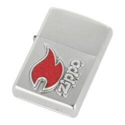 Zapalovač Zippo Red Flame, satin(Z 146830)
