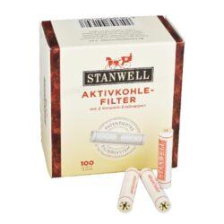 Filtr do dýmky, Stanwell, 100ks, 9mm-Celokeramické filtry do dýmky, 9mm. Uhlíkový filtr do dýmky je vyroben z nechlorovaného filtrového papíru a je naplněn aktivním uhlím. Dýmkové filtry Stanwell mají velmi dobré absorpční schopnosti, výborně zachycují dehet z kondezátu a další škodliviny z tabáku. Tyto filtry do dýmky vám dopřejí suché a chladné kouření. V balení 100 ks filtrů.