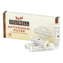Filtr do dýmky, Stanwell, 10ks, 9mm-Celokeramické filtry do dýmky 9mm. Uhlíkový filtr do dýmky je vyroben z nechlorovaného filtrového papíru a je naplněn aktivním uhlím. Dýmkové filtry Stanwell mají velmi dobré absorpční schopnosti, výborně zachycují dehet z kondezátu a další škodliviny z tabáku. Tyto filtry do dýmky vám dopřejí suché a chladné kouření. V balení 10 ks filtrů.