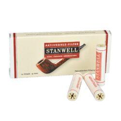 Filtr do dýmky, Stanwell, 10ks, 9mm-Celokeramické filtry do dýmky, 9mm. Uhlíkový filtr do dýmky je vyroben z nechlorovaného filtrového papíru a je naplněn aktivním uhlím. Dýmkové filtry Stanwell mají velmi dobré absorpční schopnosti, výborně zachycují dehet z kondezátu a další škodliviny z tabáku. Tyto filtry do dýmky vám dopřejí suché a chladné kouření. V balení 10 ks filtrů.